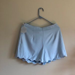 Altar'd State Blue scalloped shorts